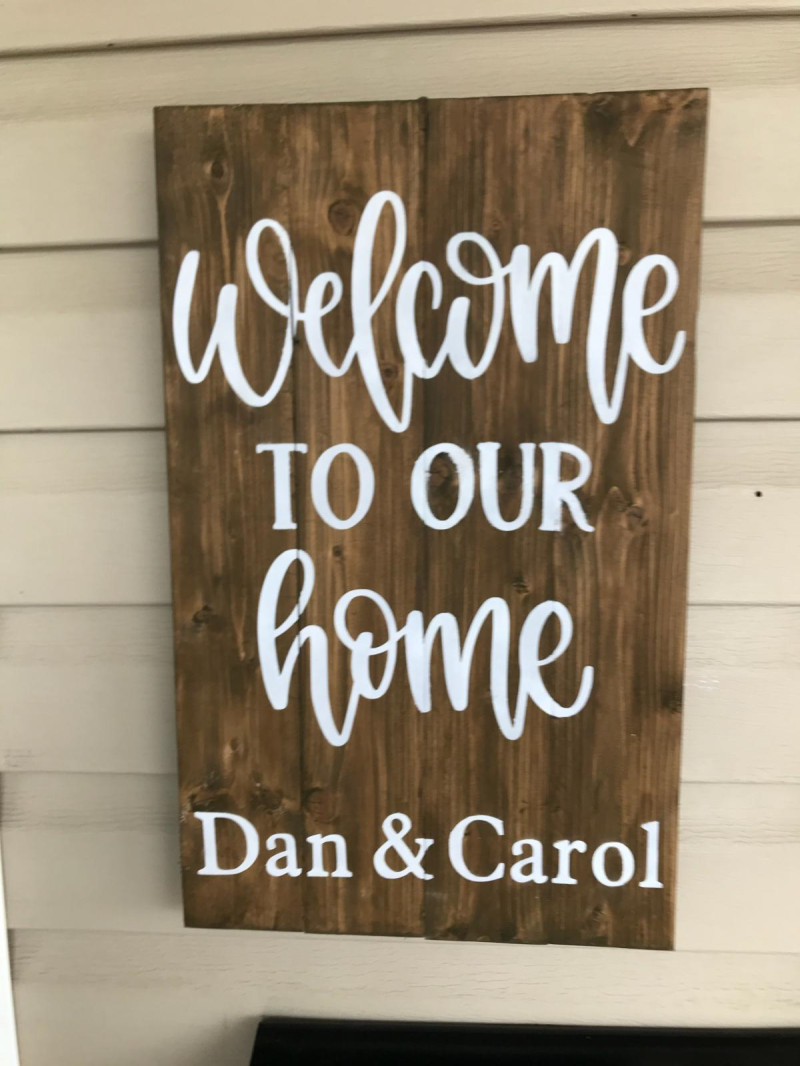 Welcome To Our Home *Your Name Here* - 12 x 20