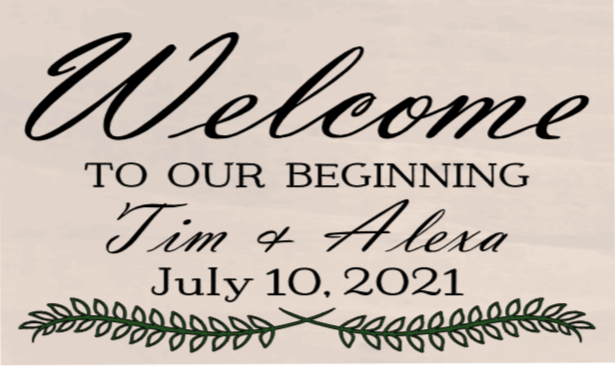 Welcome To Our Beginning - 12 x 20