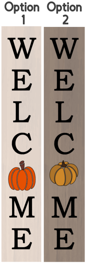 Welcome with Pumpkin - 8 x 46_
