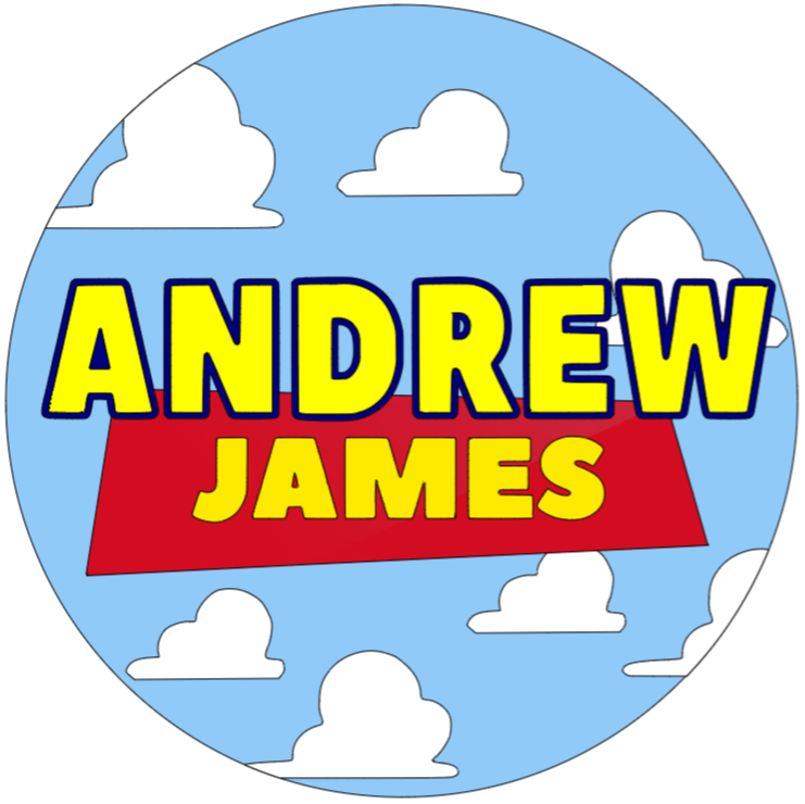 """2D - Bold First and Middle Name with Clouds - 14"""" Pre-made Circle Board"""