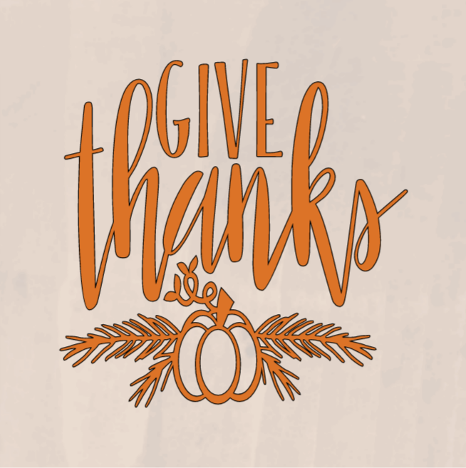 Give Thanks - 8 x 8