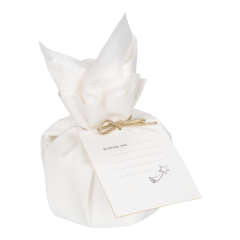MOMENTS of light - Big Gift Wrapped Candle 'Moments to Wish'