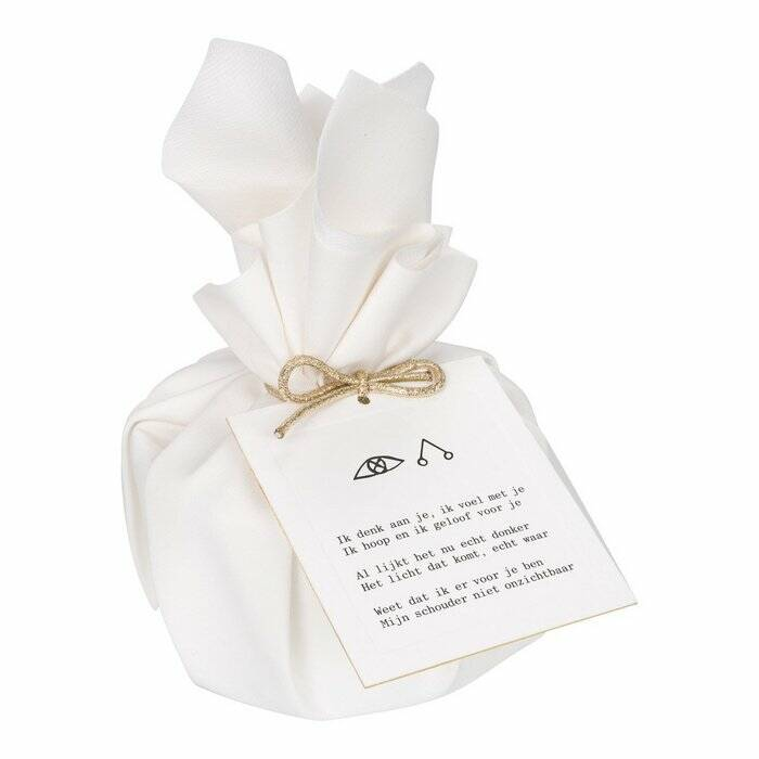 MOMENTS of light - Big Gift Wrapped Candle 'There for You'
