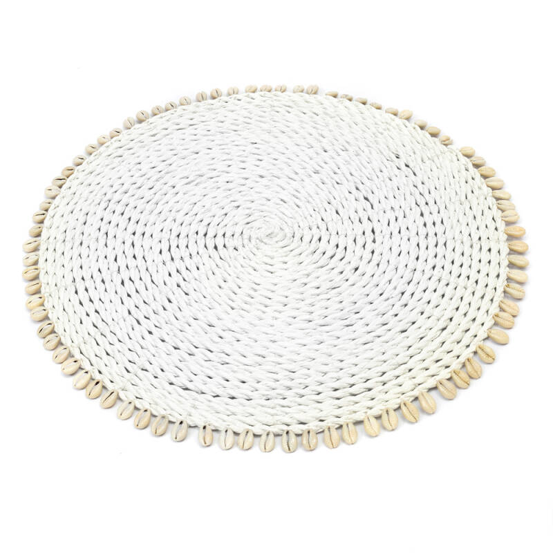 Bazar Bizar - The Seagrass Shell Placemat - wit