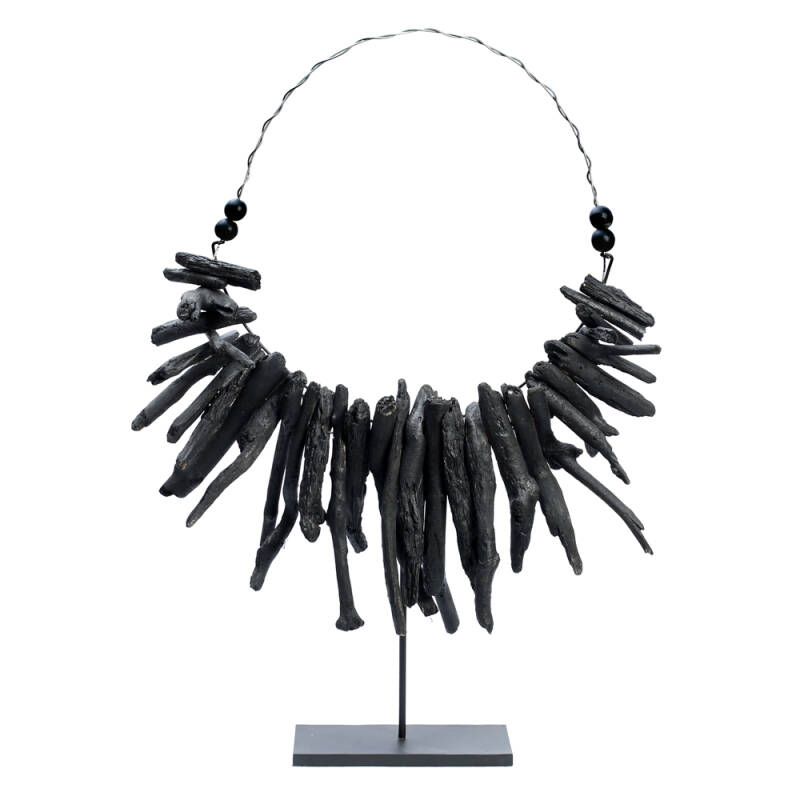 Bazar Bizar - The Black Driftwood Necklace on Stand