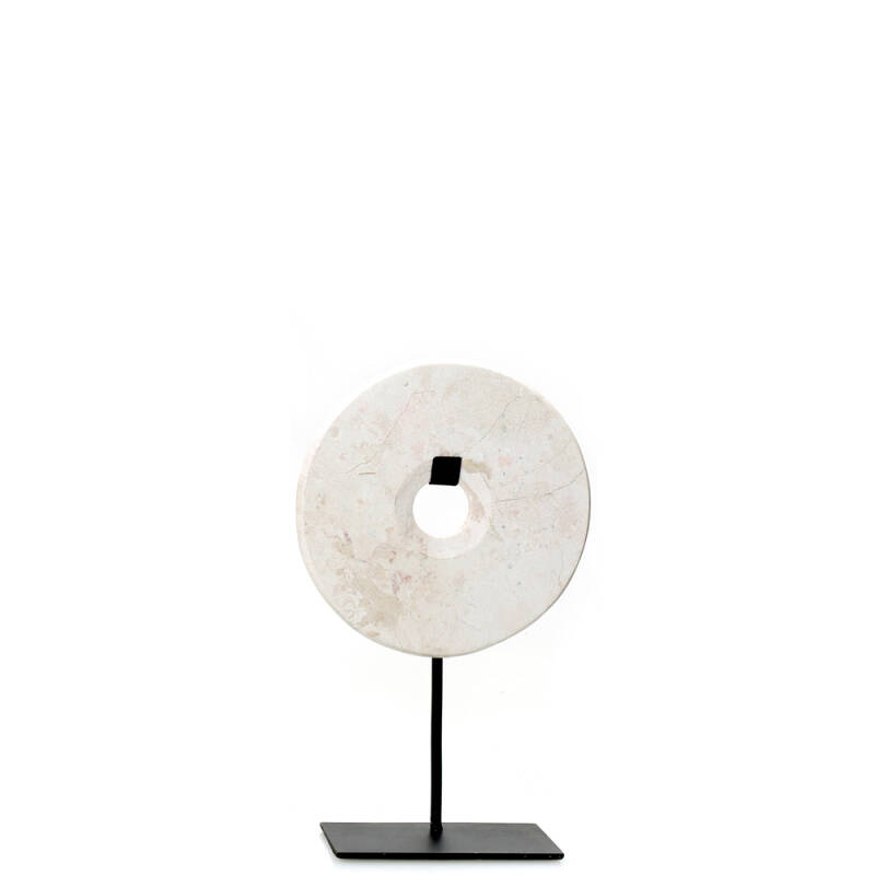 Bazar Bizar - The Marble Disc on Stand - wit - S