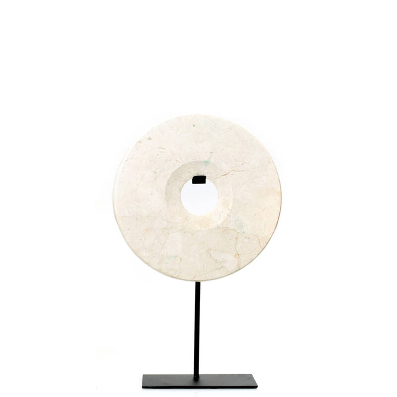 Bazar Bizar - The Marble Disc on Stand - wit - M