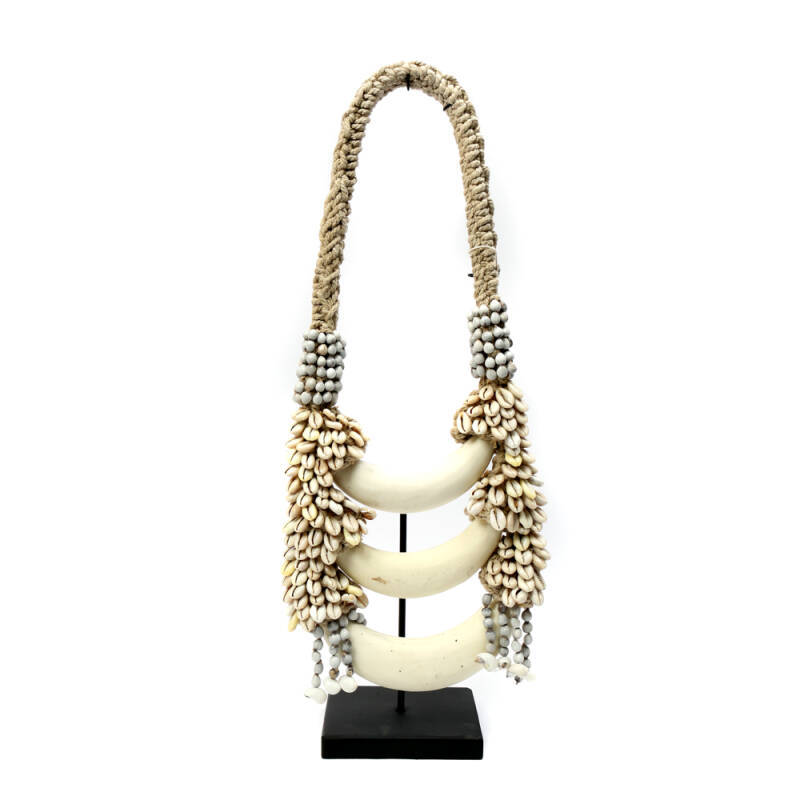 Bazar Bizar - The Triple White Moon Necklace on Stand