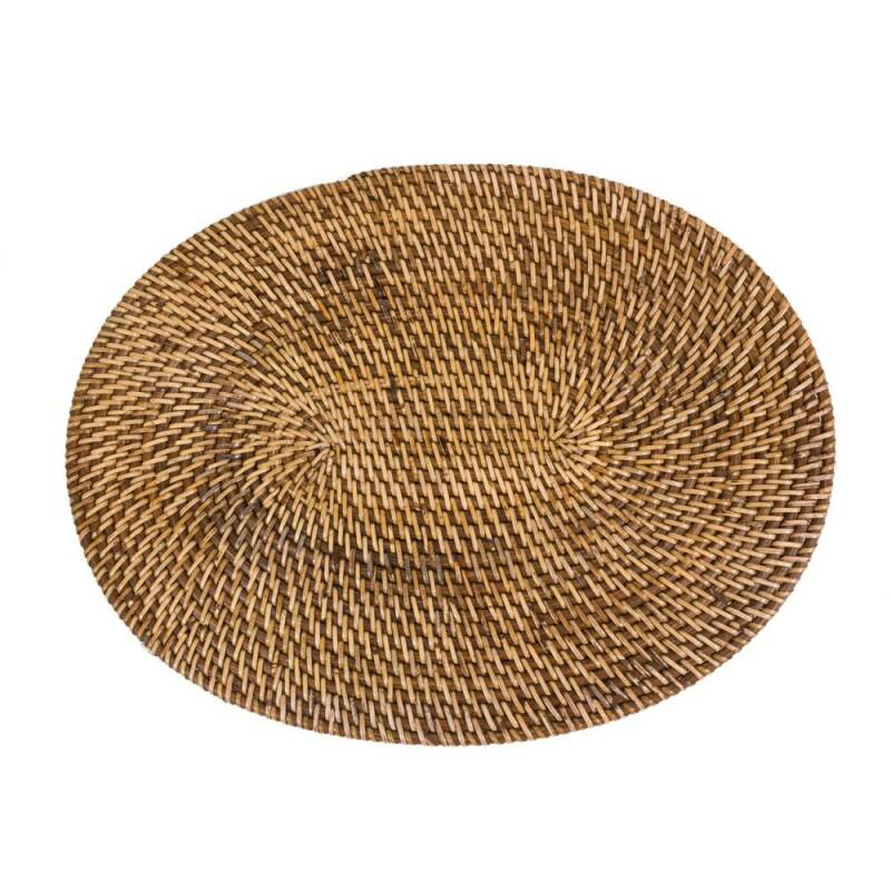 Bazar Bizar - The Colonial Oval Placemat - Natural Brown