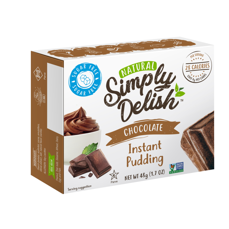 Simply Delish Chocolade Pudding - 48 gram