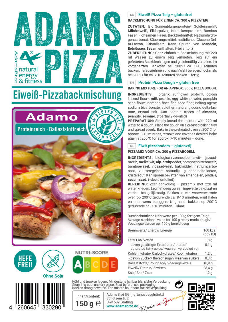 Adams Brot Pizza Mix Adamo - 150 gram