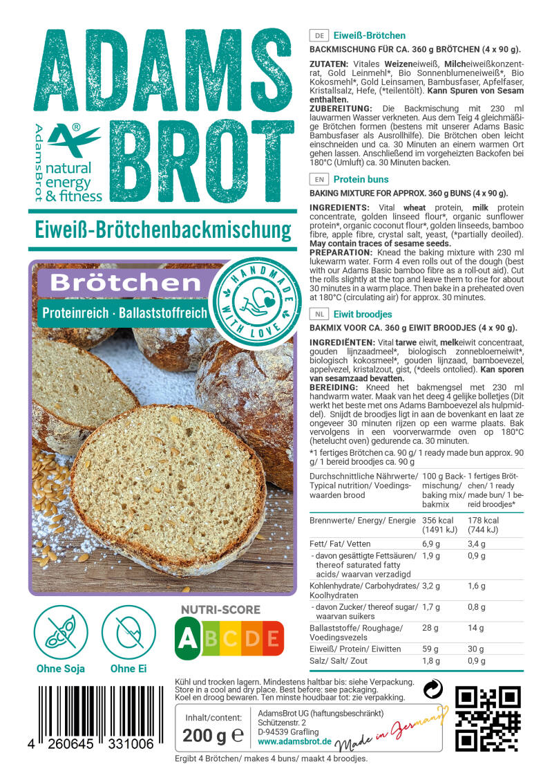 Adams Brot Brotchen Bolletjes - 200 gram