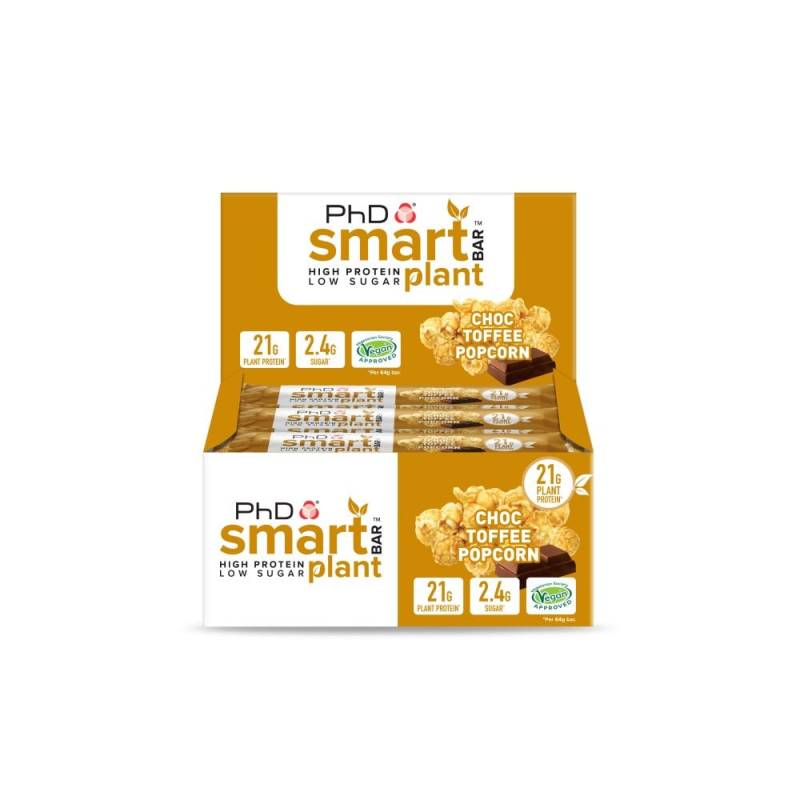 PHD Smart Bar Choco Toffee Popcorn - 64 gram