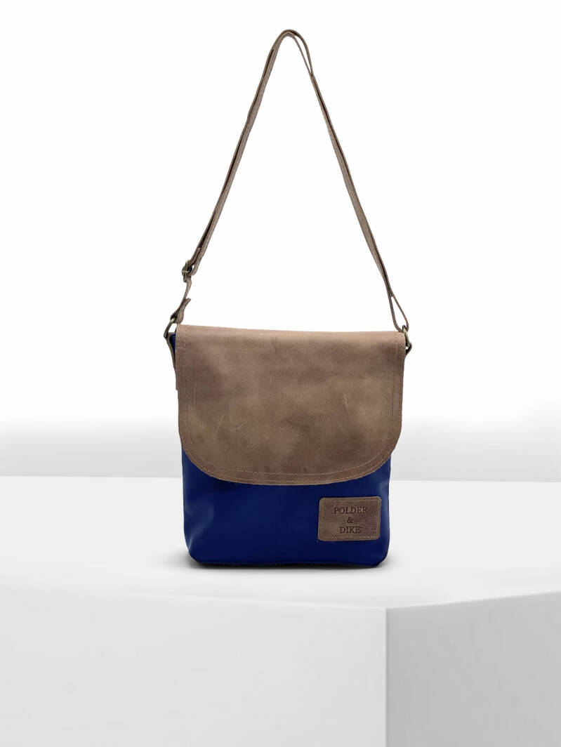 Shoulder-Bag FLORENCE Denim Blue/Peanut Brown
