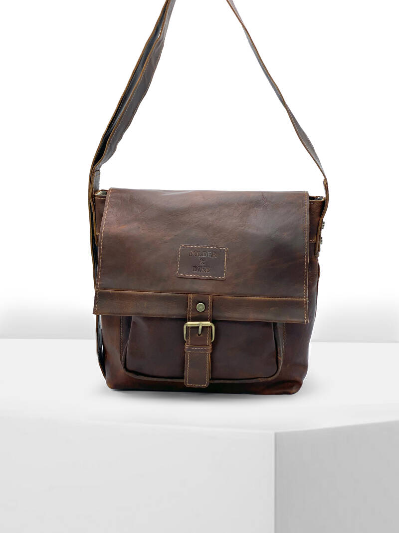 MessengerBag/CrossBody MANHATTAN Walnut Brown
