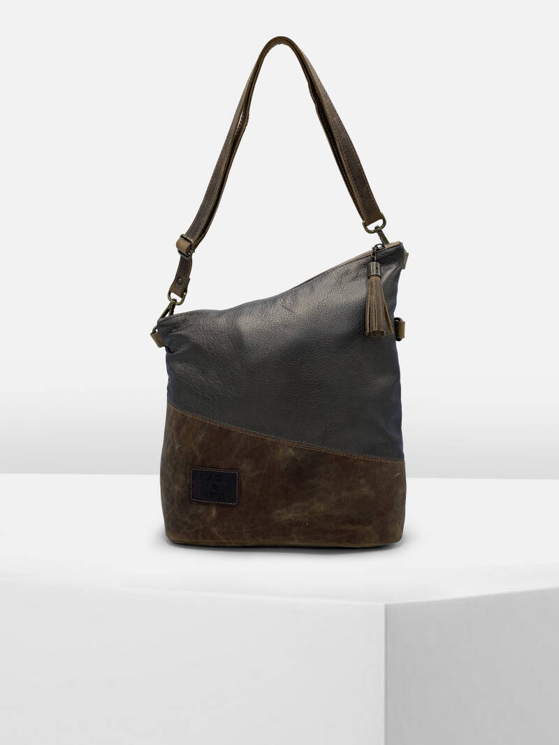 ShoulderBag PISA Metallic Brown