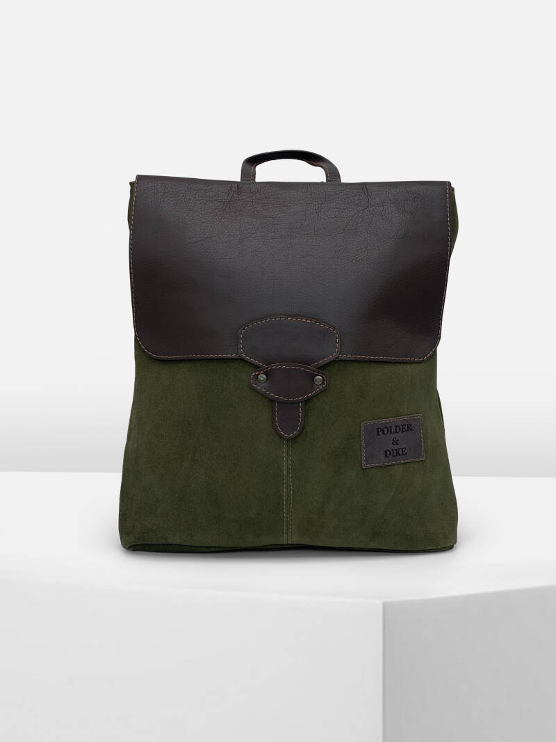 BackBag TRIBECA Green Suede