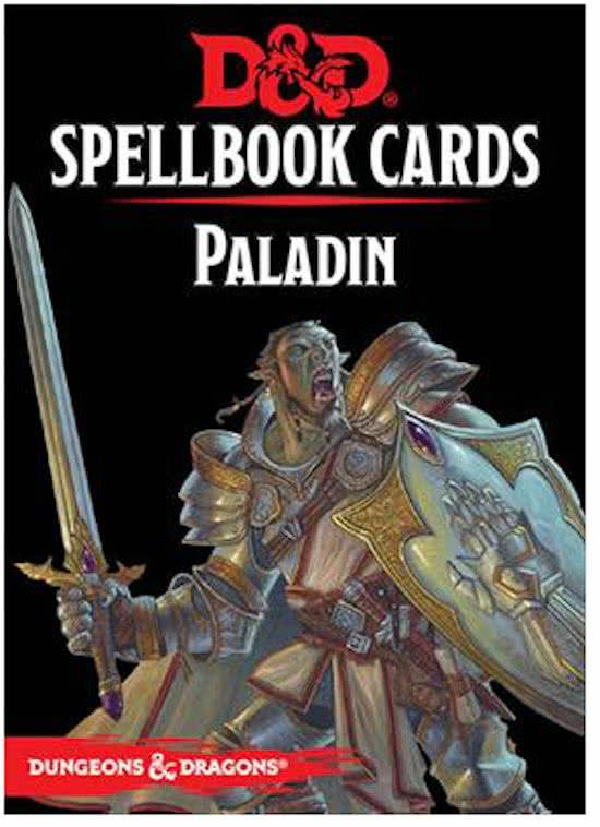 D&D - 5th Ed. - Spellbook Cards - Paladin