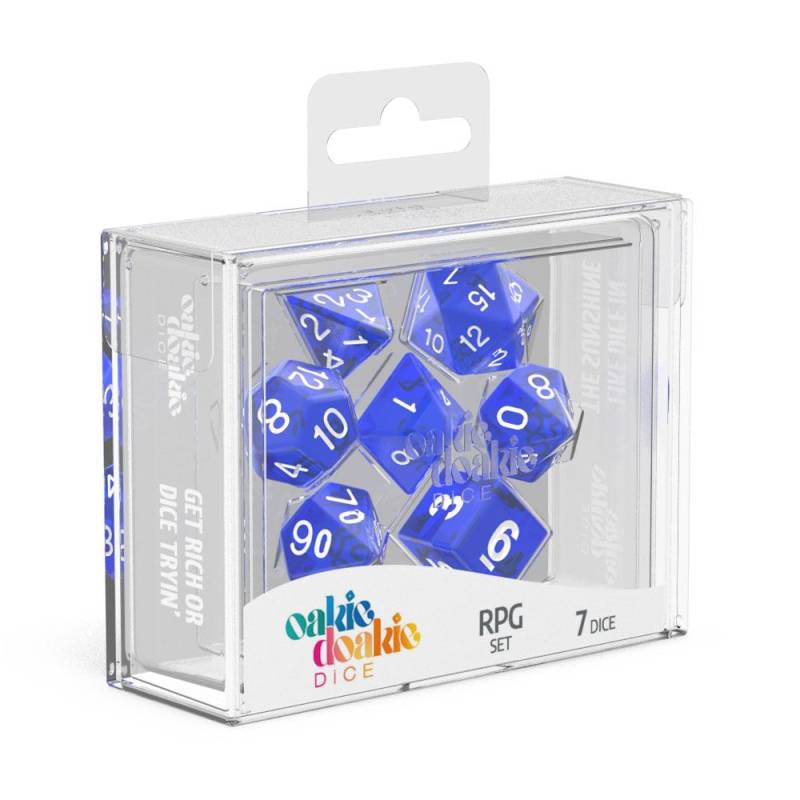 Dice - Oakie Doakie - RPG Dice Set Translucent