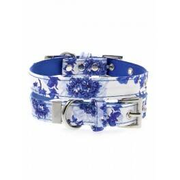 Urban Pup Blue Floral Bouquet Fabric Collar