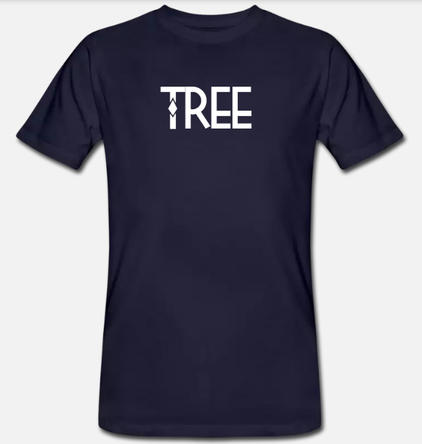 "Heren Bio-T-shirt ""Tree"" - donker blauw"