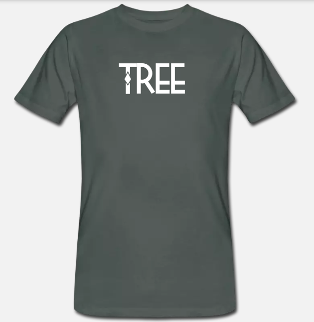 "Heren Bio-T-shirt ""Tree"" - antraciet"