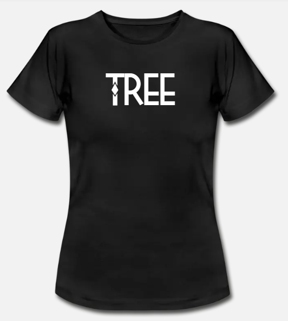 "Dames Bio-T-shirt ""Tree"" - zwart"