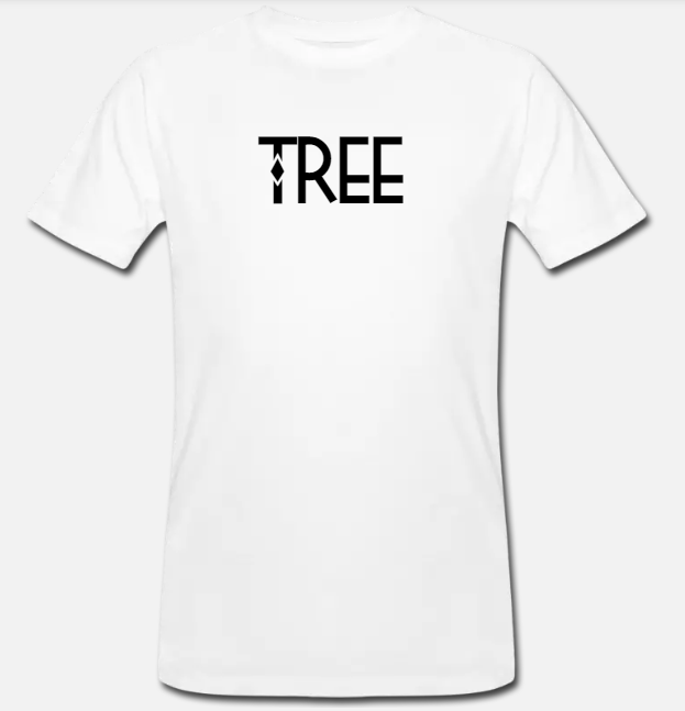 "Heren Bio-T-shirt ""Tree"" - wit"