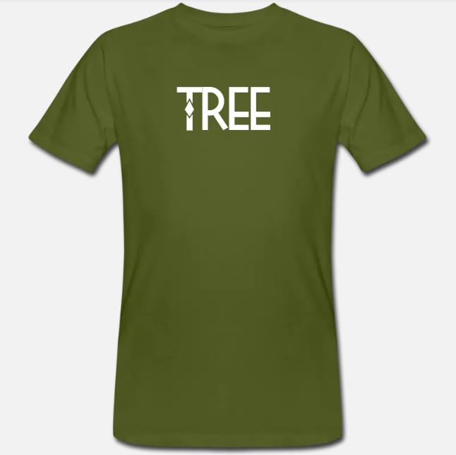 "Heren Bio t-shirt ""Tree"" - groen"