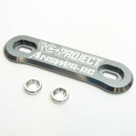 RC-Project One Piece Wing Button in Ergal 7075 T6 -GREY - ANSWER-RC logo