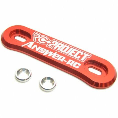 RC-Project One Piece Wing Button in Ergal 7075 T6 - RED - ANSWER-RC logo