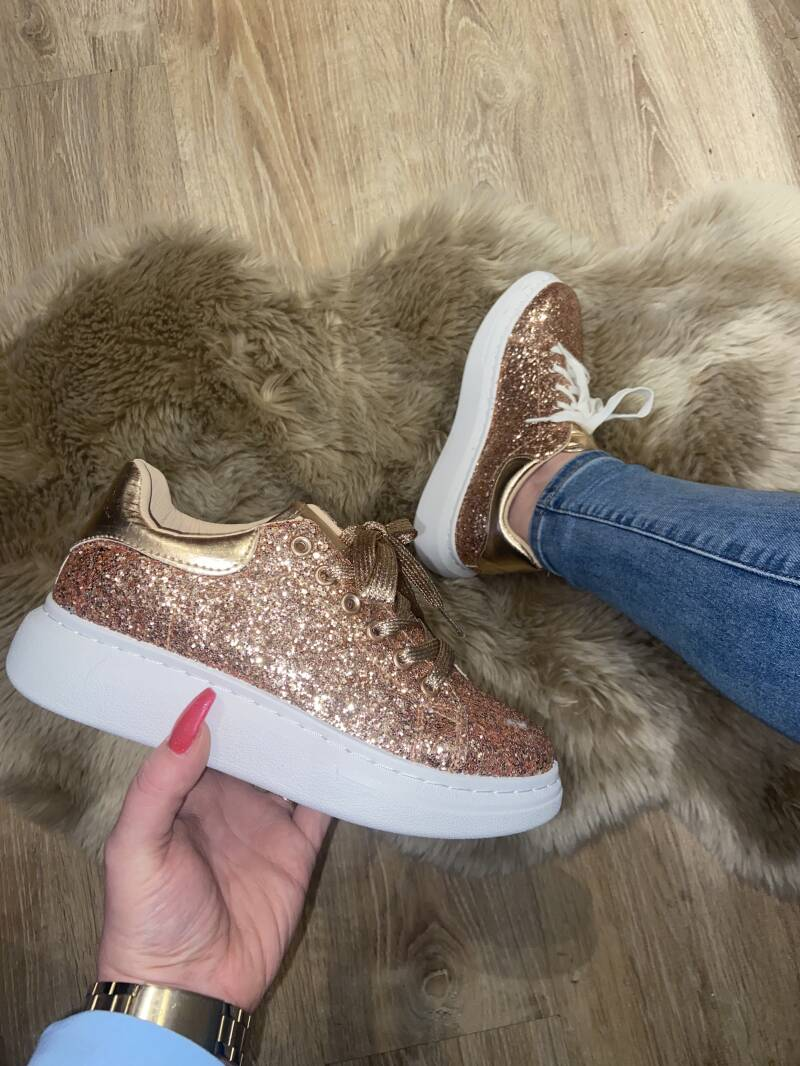 Sneakers glam champage