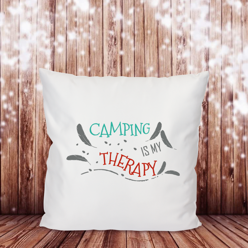 Camping is my Therapy (Camping Kissen 4374)