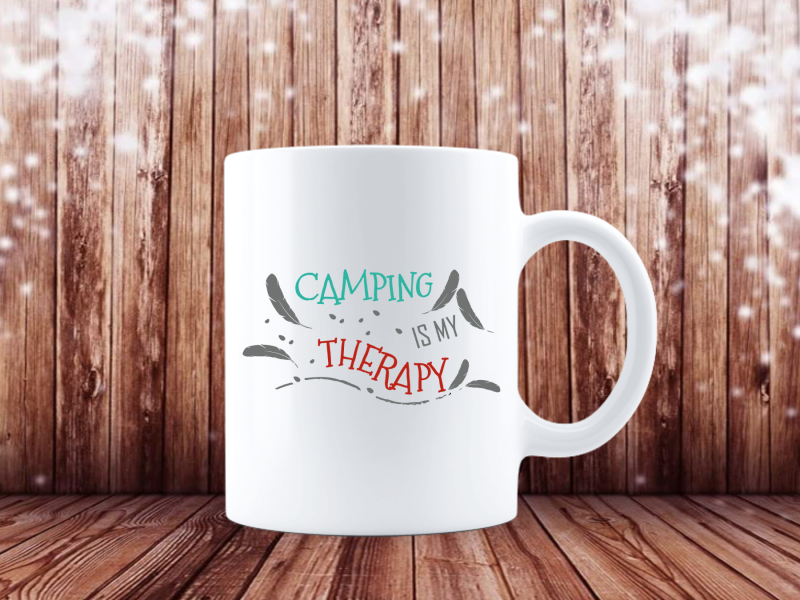 Camping is my Therapy (Camping Tasse 4374)