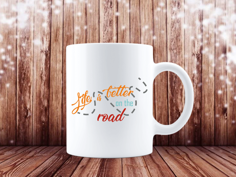 Life is better on the road (Camping Tasse 4379)