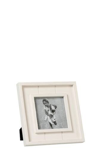 Fotokader 13X13 Rand Hout Wit Small
