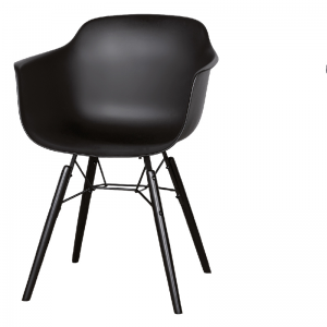 LIFESTYLE ROOSEVELT DINING CHAIR BLACK
