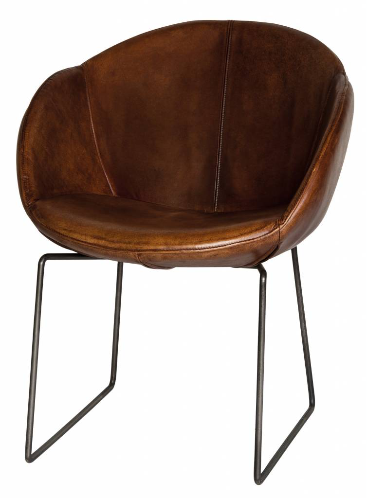 LIFESTYLE LOS ANGELES CHAIR LEATHER BROWN