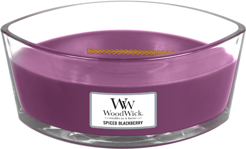 Woodwick Spiced Blackberry Ellipse Candle