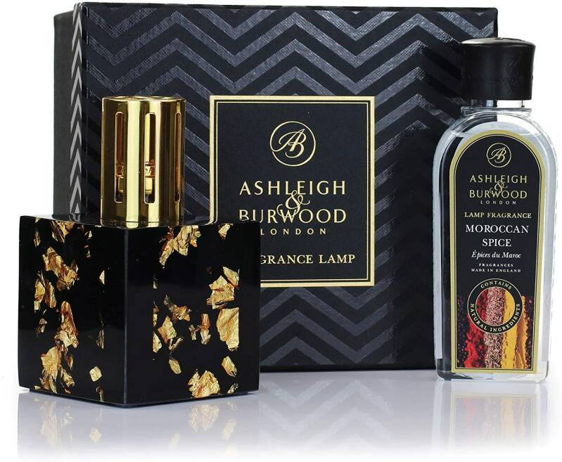 Midnight Gold Fragrance Lamp Gift Set with Moroccan Spice Fragrance