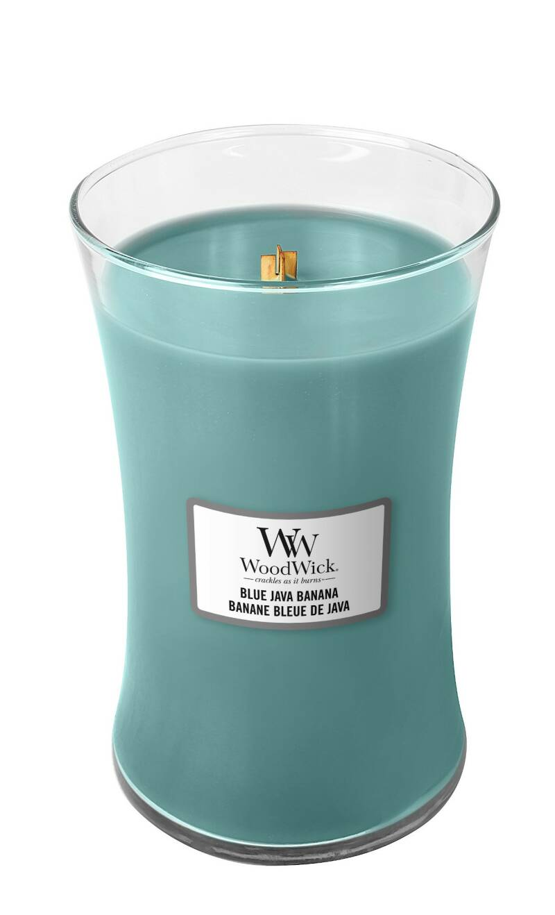 WoodWick Large Candle Blue Java Banana