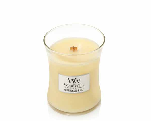 WoodWick Lemongrass & Lily Geurkaars Medium