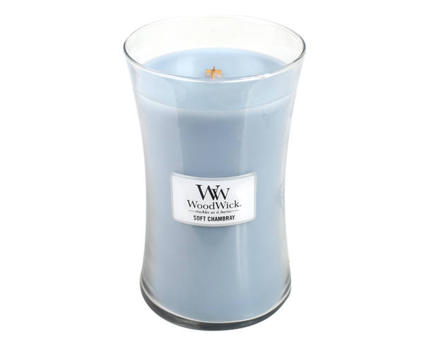 WoodWick Soft Chambray Geurkaars Large