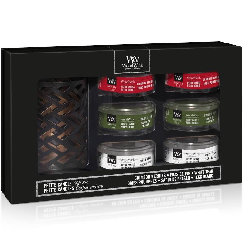 Woodwick Gift Set Deluxe Petite Candle Autumn Winter