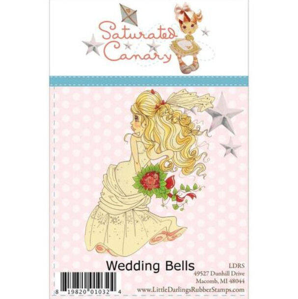Saturated Canary Little Darlings Unmounted Rubber Stamps, Weddingbells