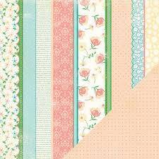 Making Memories Scrappapier Flower Patch Stripe 31780