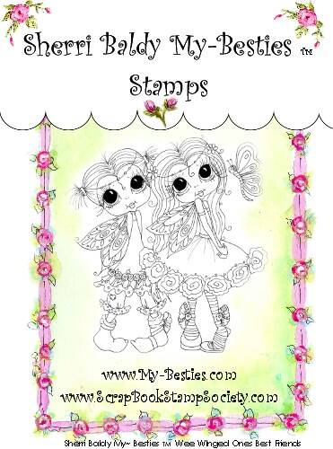 MB 31 Clear Rubber Stamps Wee Winged Ones best Friend My-Besties