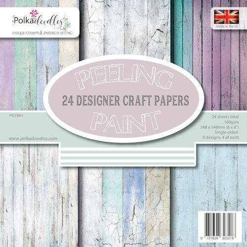 Polkadoodles Paperpack Distressed Wood PD 7951
