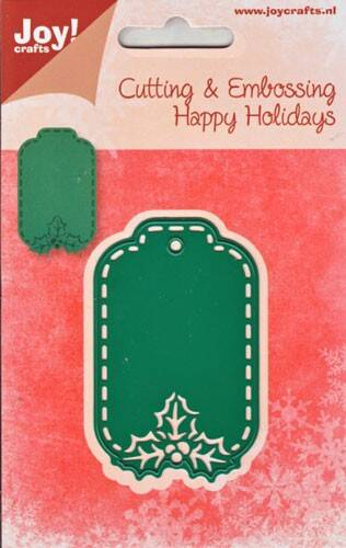 Joy Craft Cutting & Embossingstencil 6002/2017 Happy Holidays Labe