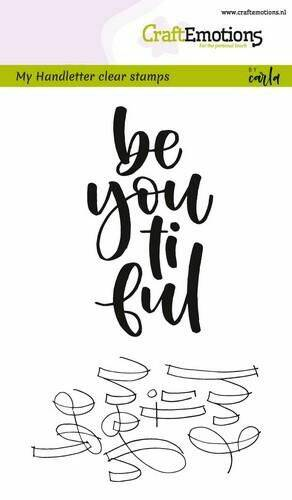 Clearstamps A6 - handletter - be you ti ful (Eng)